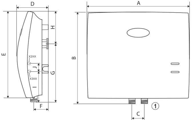 Dražice DZD MX 2207 Průtokový ohřívač vody 4,5/7 kW - rozbaleno