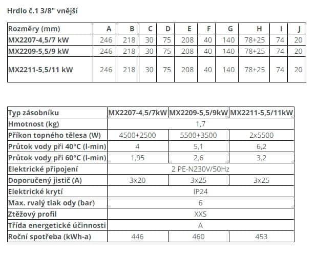 Dražice DZD MX 2209 Průtokový ohřívač vody 5,5/9 kW