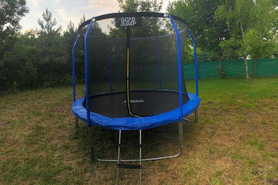 Goodjump GoodJump 3UPVC modrá trampolína 305 cm s ochrannou sítí + žebřík - Inside