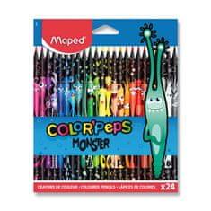 Maped Bezdřevé pastelky MAPED ColorďPeps Monster, 24 ks