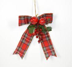 DUE ESSE pentlja z vejico, božični okrasek, 30 cm
