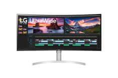 LG ukrivljen, ultra širok nano IPS monitor, 96,5 cm, QHD+ (38WN95C-W)