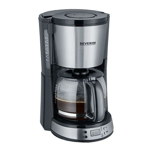 """Severin Coffee Maker with timer """"SELECT"""", approx. 1000 W, up to 10, Coffee Maker with timer """"SELECT"""", approx. 1000 W, up to 10 cups, automatic switch-off, Aroma function, digital clock with timer"""