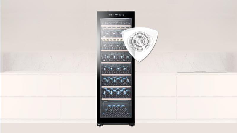 Vinotéka Haier WS59GAE antivibračný systém kompresor