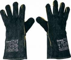 Cerva SANDPIPER BLACK rukavice celokožené 11