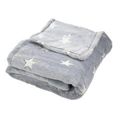 TopProsteradla.cz Mikroflanelová deka Premium 150x200 - Shining Stars světle šedá - ve tmě svítí