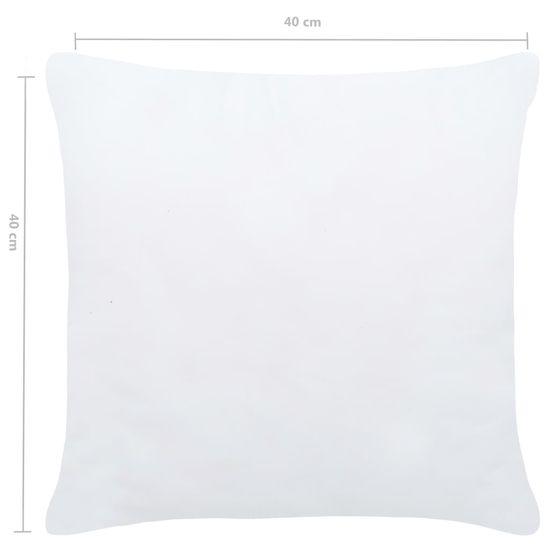 shumee Wkłady do poduszek, 4 szt., 40x40 cm, białe