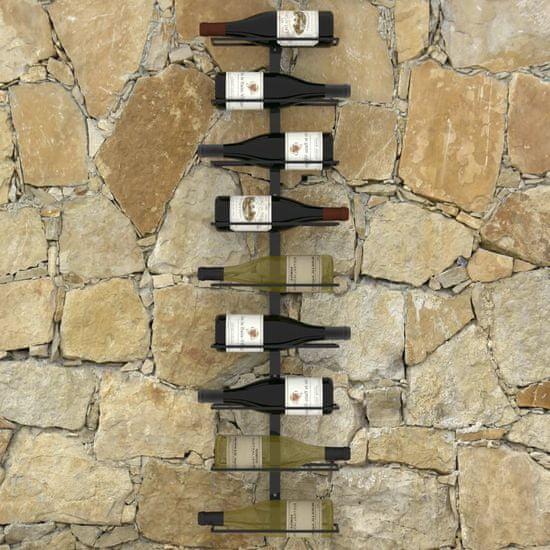 shumee fekete vas falra szerelhető bortartó állvány 9 palacknak
