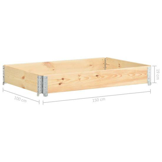 Greatstore Vyvýšený záhon 100x150 cm borovicový masív