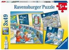 Ravensburger Puzzle 050888 Astronauti 3x49 dielikov