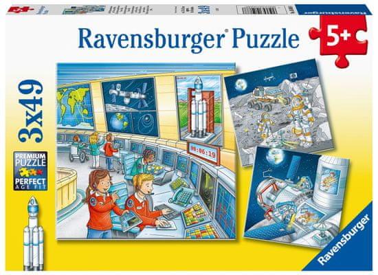 Ravensburger sestavljanka 050888 Astronavti, 3x49 delov
