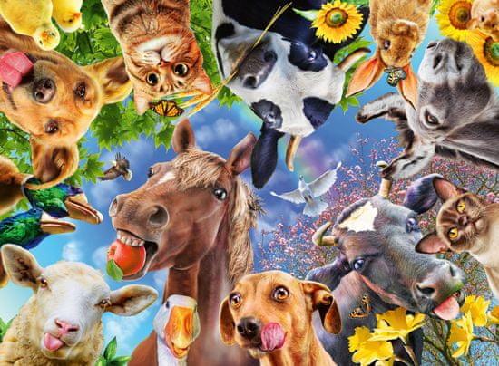 Ravensburger Puzzle 129027 Legrační hospodářská zvířata 200 dílků