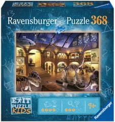 Ravensburger Puzzle 129256 Exit KIDS: Noc v muzeu 368 dílků