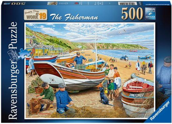 Ravensburger sestavljanka 164141 Ribič, 500-delna
