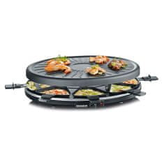Severin Raclette-Partygrill, approx. 1100 W, 8 non stick coated pans