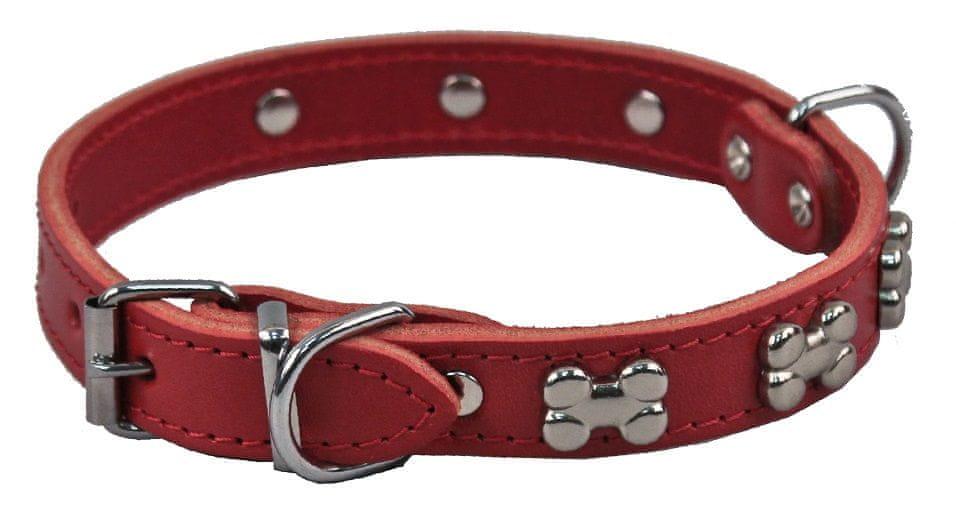 BAFPET Obojek zdobený kostičkami červená, vel. XS