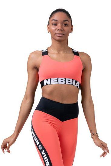 Nebbia Power Your Hero ikonická sportovní podprsenka 535 lososová