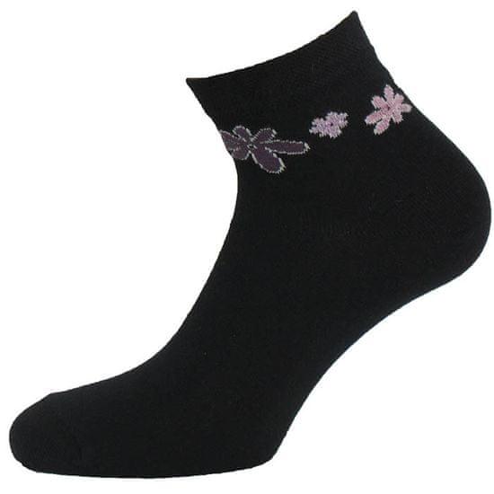 BENAMI Veselé ponožky Květiny Černá 35-38