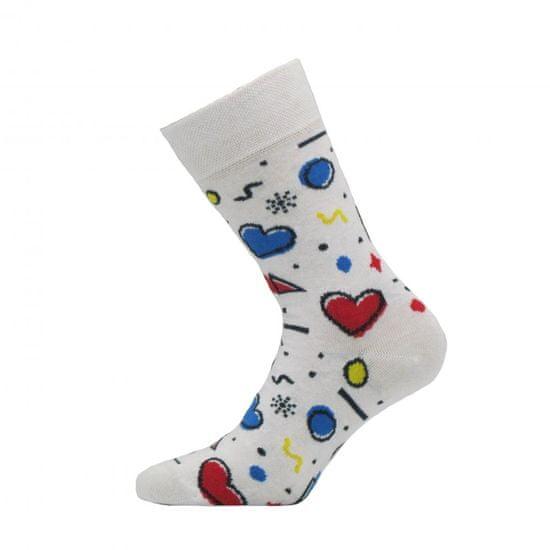 BENAMI Veselé ponožky Funny Bílá Vysoké ponožky 35-38