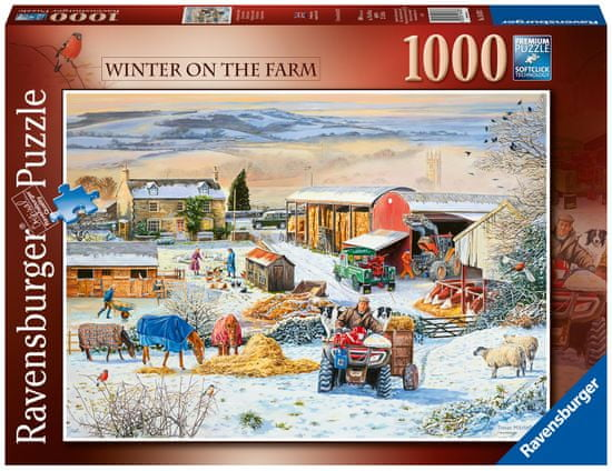 Ravensburger sestavljanka 164783 Zima na kmetiji, 1000-
