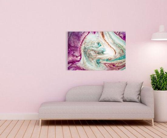 InSmile Obraz růžová abstrakce Velikost: 90x60 cm