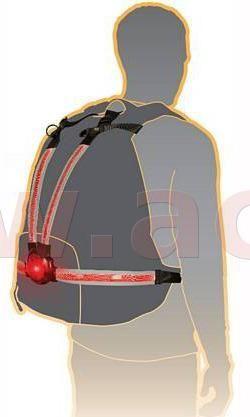 Oxford světelný pás Commuter X4 s LED světlem pro aktivní ochranu, OXFORD (na tělo nebo na batoh, světelný tok 30 až 70 lm) LD720