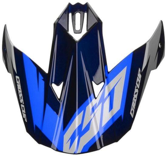 Cassida kšilt pro přilby Cross Cup Two, CASSIDA (modrý/bílý/černý) PEAK BLU WHITE BLACK SC-15 TWO