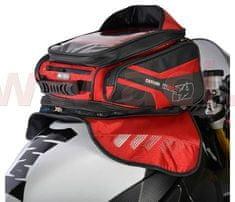 Oxford tankbag na motocykl M30R, OXFORD (černý/červený, s magnetickou základnou, objem 30 l) OL246