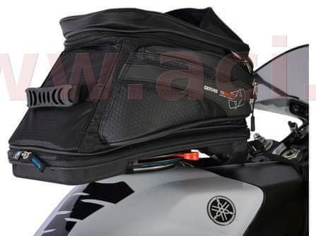 Oxford tankbag na motocykl Q20R Adventure QR, OXFORD (černý, s rychloupínacím systémem na víčka nádrže, objem 20 l) OL241