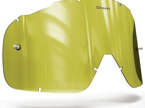 Fox Racing plexi pro brýle FOX RACING AIRSPC, ONYX LENSES (Hi-Vis žluté s polarizací) 15-141-41