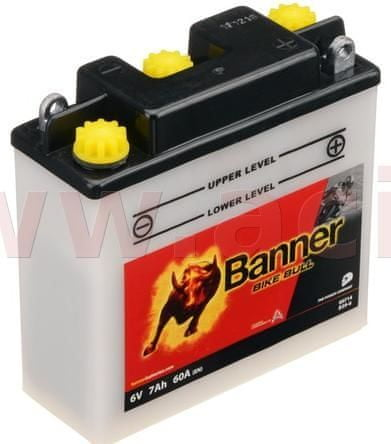Banner baterie 6V, B39-6, 7Ah, 60A, BANNER Bike Bull 126x48x126 00714