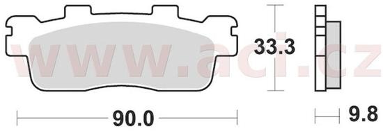 Braking brzdové destičky, BRAKING (semi-metalická směs SM1) 2 ks v balení 945SM1
