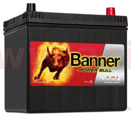 Banner 60Ah baterie, 510A, pravá BANNER Power Bull 233x173x203(225) P6068