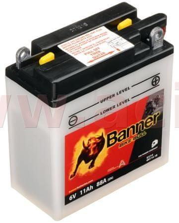 Banner baterie 6V, 6N11A-1B, 11Ah, 88A, BANNER Bike Bull 122x62x132 01214