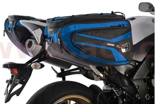 Oxford boční brašny na motocykl P50R, OXFORD (černé/modré, objem 50 l, pár) OL317