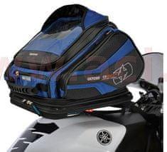 Oxford tankbag na motocykl Q30R QR, OXFORD (černý/modrý, s rychloupínacím systémem na víčka nádrže, objem 30 l) OL272