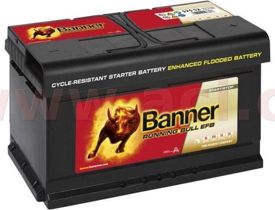 Banner 75Ah baterie, 730A, pravá BANNER Running Bull EFB 315x175x175 EFB57512