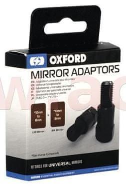Oxford redukce závitu zp. zrcátek M10 na M8 OXFORD (černá, pár) OX579