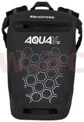 Oxford vodotěsný batoh AQUA V12, OXFORD (černá, objem 12 L) OL691