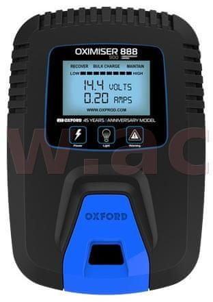 Oxford nabíječka Oximiser 888 výroční limitovaná edice, OXFORD (12 V, 0,9 A, 30 Ah) EL573
