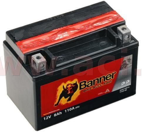 Banner baterie 12V, YTX9-BS, 8Ah, 110A, BANNER Bike Bull AGM 150x87x105 50812