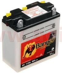Banner baterie 6V, 6N11A-3A, 11Ah, 88A, BANNER Bike Bull 122x62x132 01211