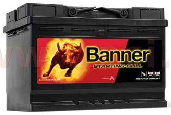Banner 72Ah baterie, 650A, levá BANNER Starting Bull 278x175x190 57233