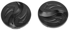 Cassida víčka plexi pro přilby EVO, CASSIDA - ČR (černé, pár) VISOR CAPS EVO BLACK