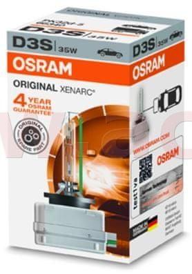 Osram D3S - výbojka XENON 12V 35W pro čočky OSRAM CLASSIC XENARC 66340
