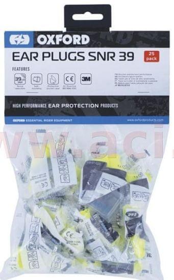 Oxford PU špunty do uší Earsoft FX, OXFORD (SNR - průměrná hodnota snížení hluku 39 dB, obchodní balení 25 párů) OX625