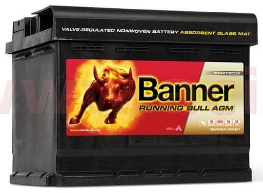 Banner 60Ah baterie, 640A, pravá BANNER Running Bull AGM 241x175x190 AGM56001