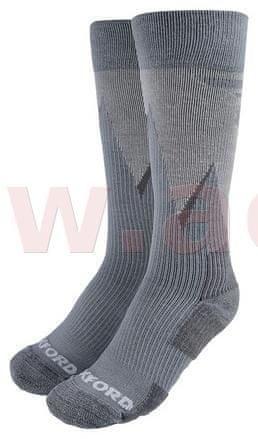 Oxford ponožky merino vlna, kompresní, OXFORD (šedé) (Velikost: S) M168-139