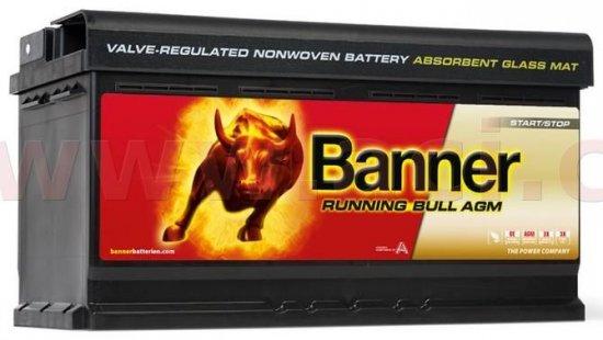 Banner 92Ah baterie, 850A, pravá BANNER Running Bull AGM 354x175x190 AGM59201