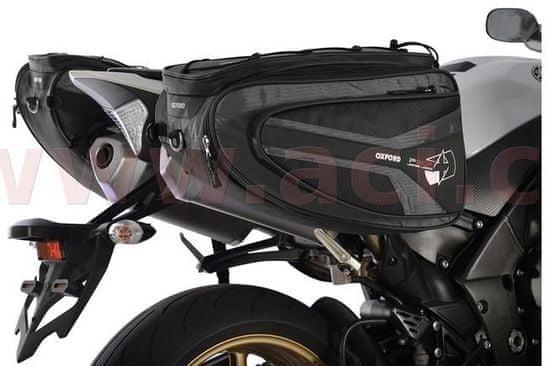Oxford boční brašny na motocykl P50R, OXFORD (černé, objem 50 l, pár) OL315